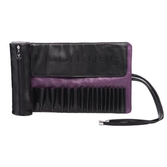 Younique Handbags - NWT Younique Black & Purple Brush Roll